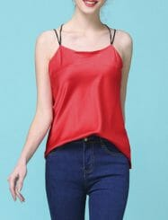 Was and Now - Fashion Clothing - Plain Nifty Chic Spaghetti Strap Camisoles