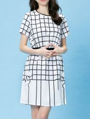 Was and Now - Fashion Clothing - Striped Charming Shift Dress