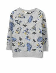 Was And Now - Cotton On Kids - licence crew sweat - Lt grey marle/batman