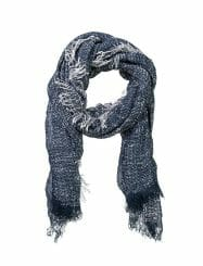Was And Now - Cotton On Women - cosy up scarf - Navy/cream