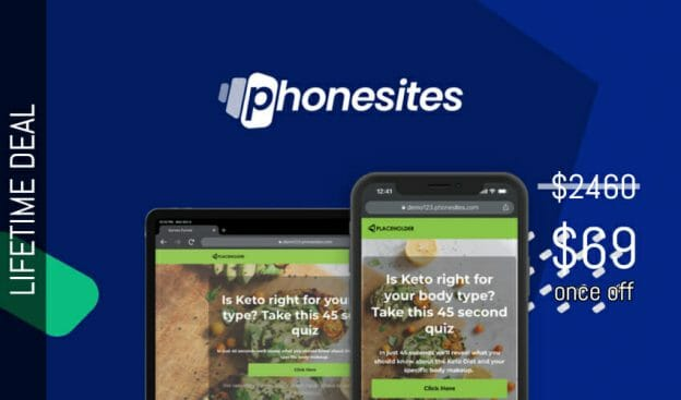 WAS AND NOW - Phonesites Lifetime Deal for $69 WAS $2460.00