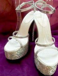 Charming Platform Sandals With Rhinestone
